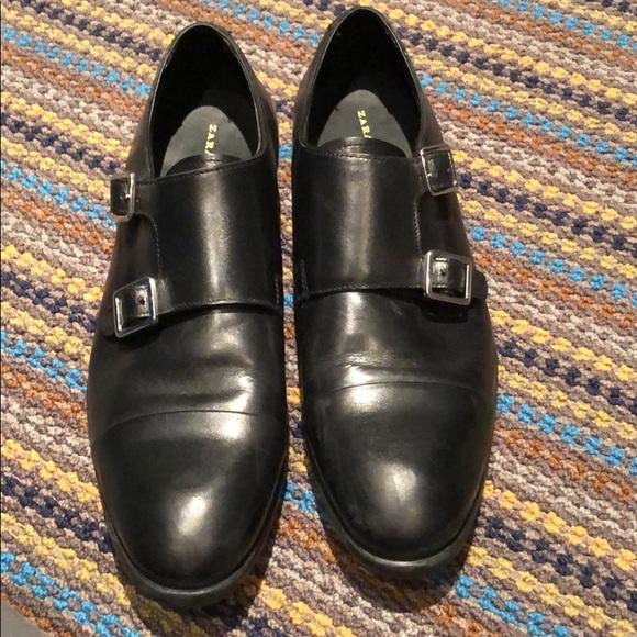 34741af7 Zara Shoes   Used Mens Black Double Monk Strap   Poshmark